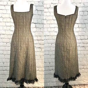 Lela Rose long tweed cocktail dress 4